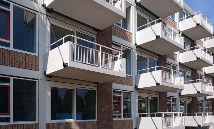 Nieuwe balkons melissantstraat
