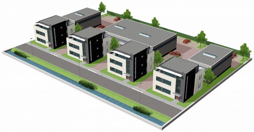 Koraalrood Zoetermeer Utiliteitsbouw impressie