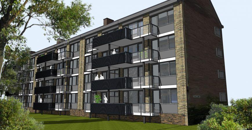 Variant A2 - balkon