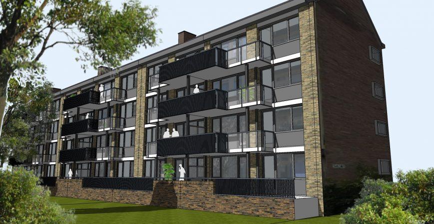 Variant A2 - balkon (optioneel)
