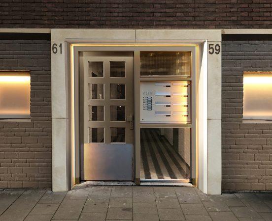 Nieuwe situatie portiek project Graadt van Roggenweg