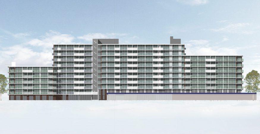 Impressie vooraanzicht project SBBS Honsbergen Soest