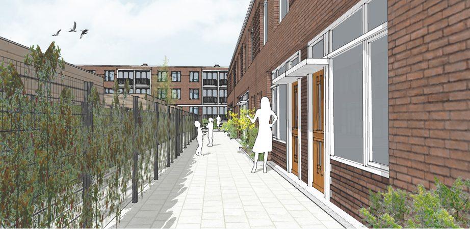 Impressie van het project Raamdonk in Pendrecht, Rotterdam.