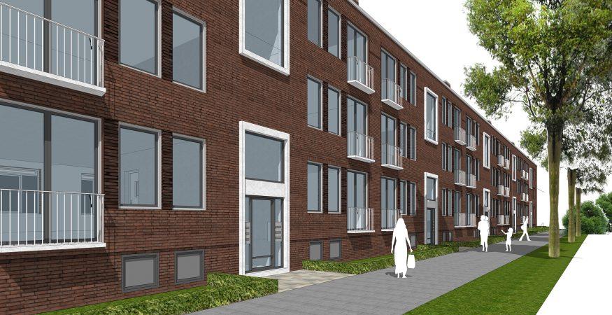 Impressie van het project Geertruiden - Wagenstraat in Pendrecht, Rotterdam.
