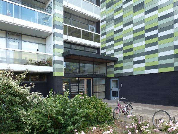 Nieuwe situatie portiek flats Poeldijk