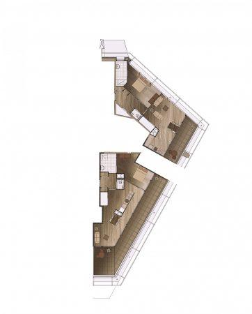 Neudeflat 16e verdieping totaal penthouses