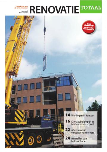 Publicatie Einsteinbaan in Renovatie Totaal Maart 2015