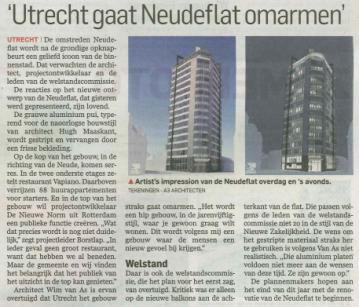 Publicatie Neudeflat in AD Utrecht 2017