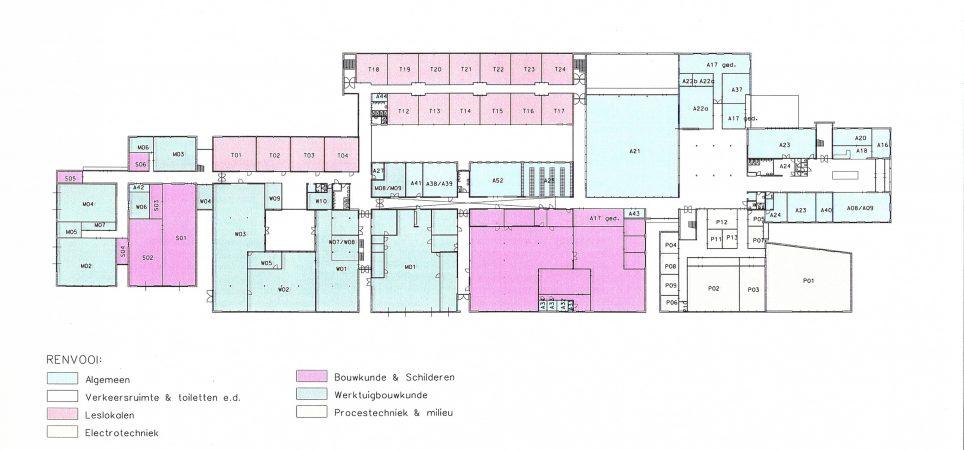 Plattegrond Markiezaat College Bergen op Zoom