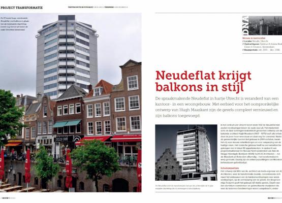 Publicatie Neudeflat balkons in Bouwwereld September 2017